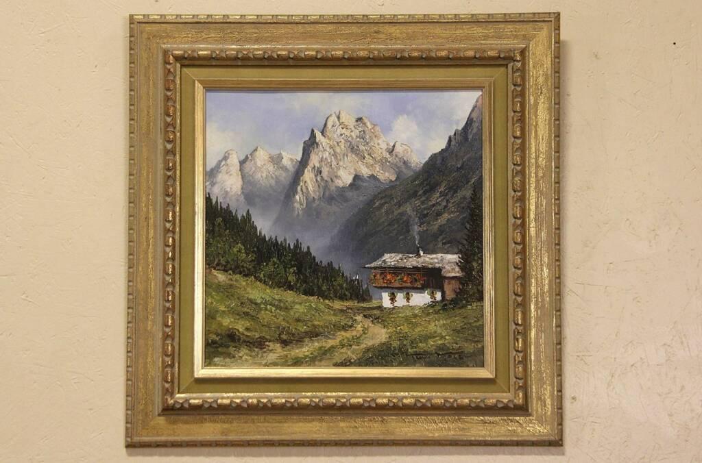 Sold Alpine Mountain Amp Chalet Signed Kurt Moser 1970 S