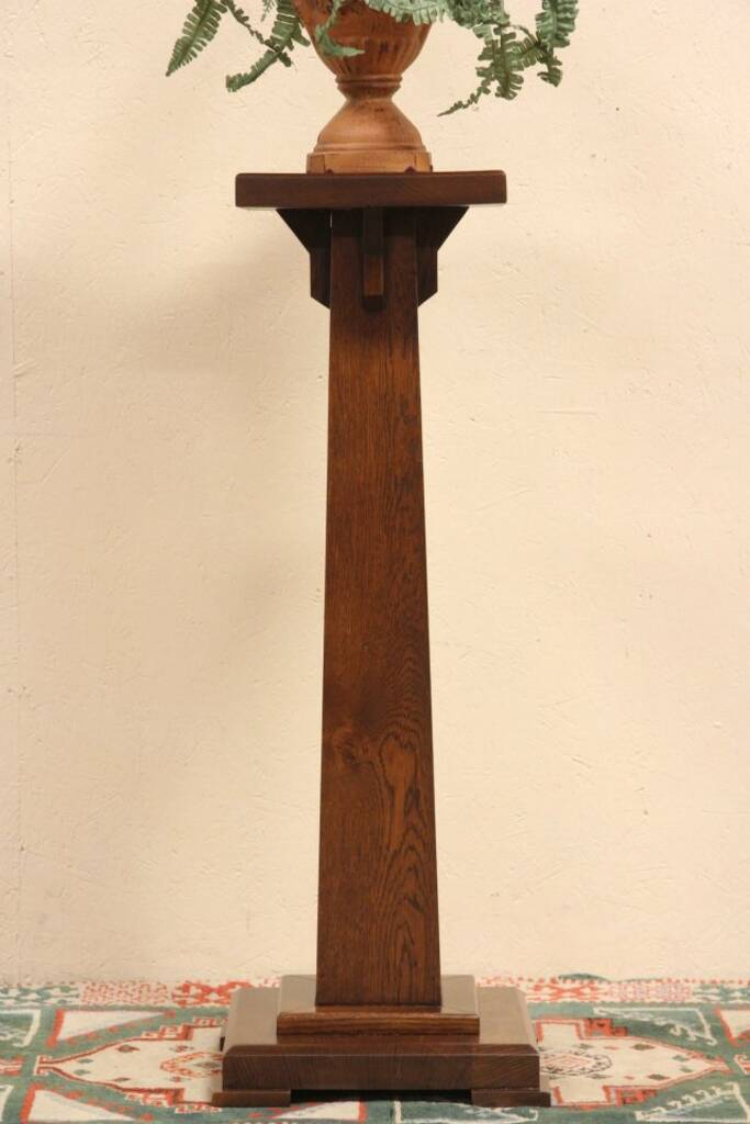 Sold Arts Amp Crafts Mission 1900 Antique Oak Pedestal Or