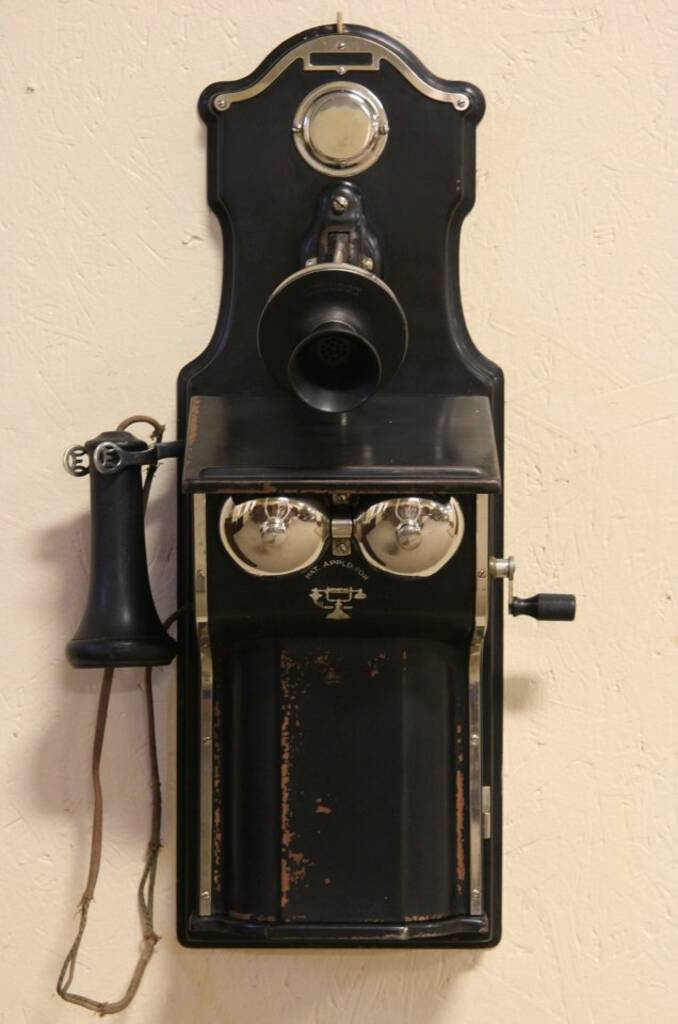 sold - kellogg 1909 copper wall telephone