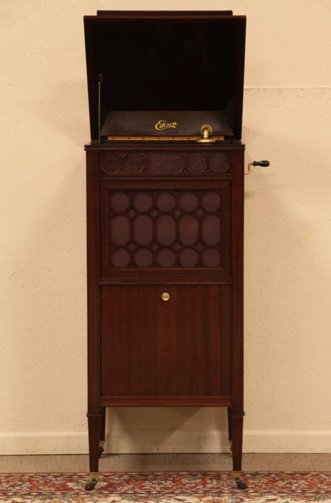 Sold Edison 1916 Phonograph Record Player Harp Gallery