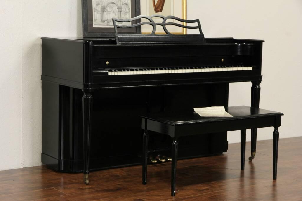 Sold Baldwin Acrosonic Signed 1953 Vintage Piano Amp Bench