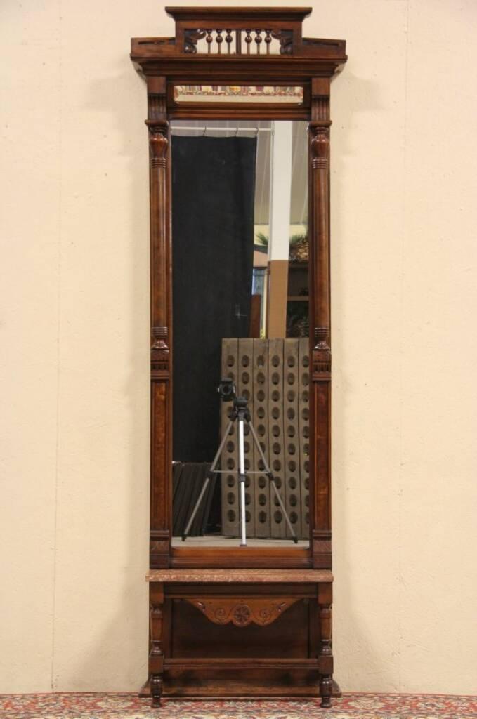 Sold Victorian Eastlake 1885 Antique Pier Or Hall Mirror