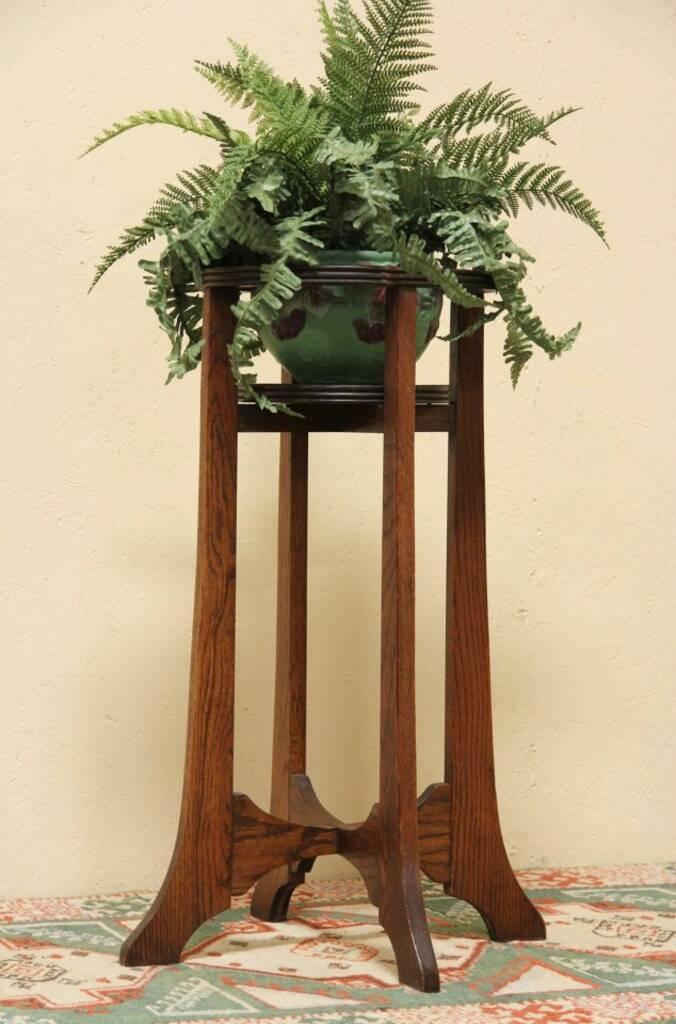 Sold Arts Amp Crafts Mission Oak Fern Stand Or Plant