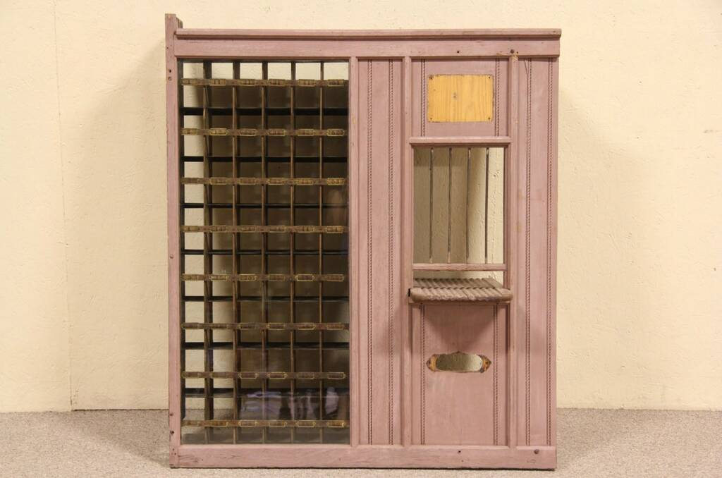 Sold post office salvage window counter home