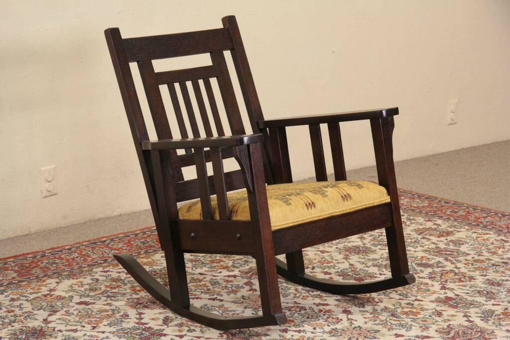 Sold Art Amp Crafts Mission Oak1910 Antique Rocking Chair