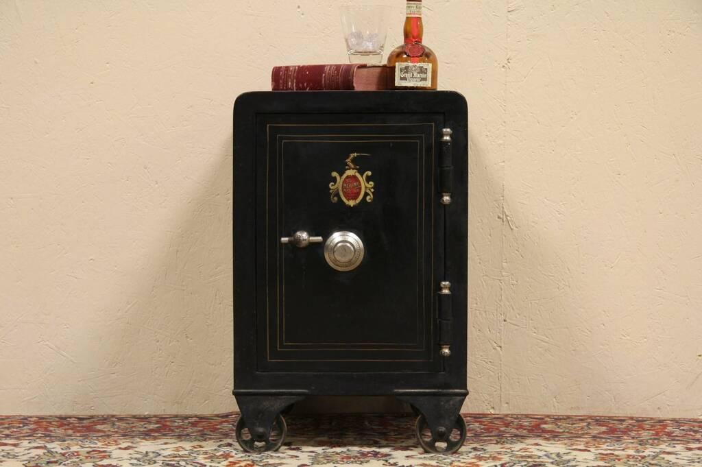 Sold Meilink Toledo Antique 1895 Iron Safe Harp Gallery Antique Furniture