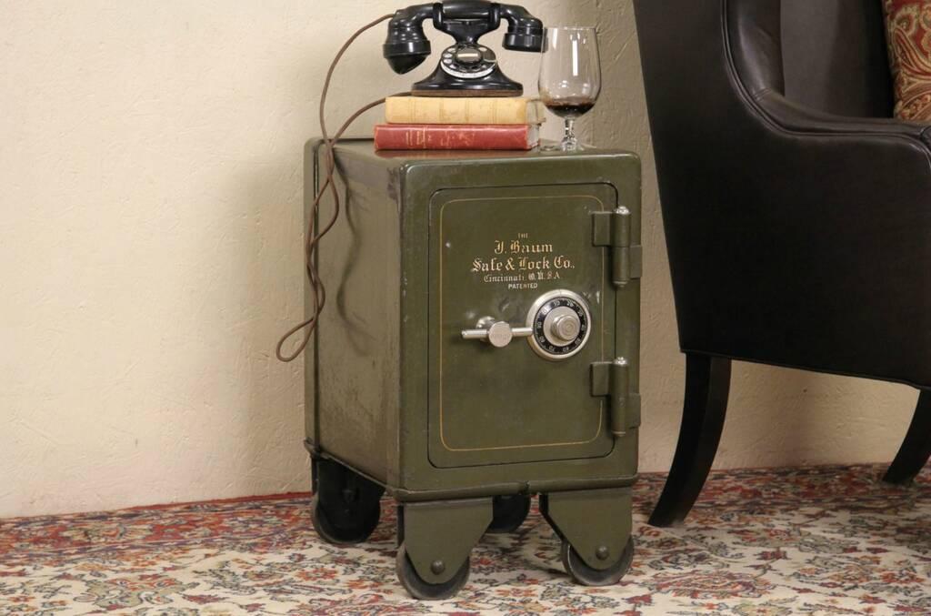 Sold Baum Of Cincinnati Antique 1910 Safe With Combination Lock Harp Gallery Antique Furniture