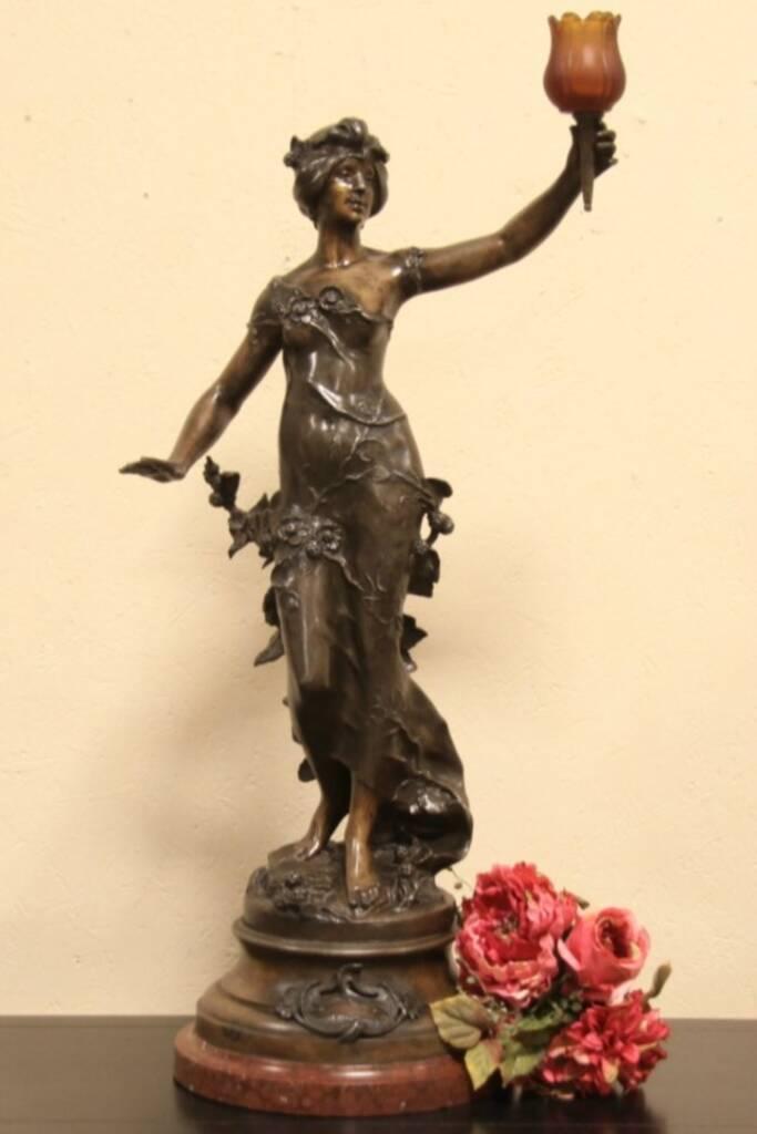 Sold Fruits D Automne Statue Auguste Moreau Antique