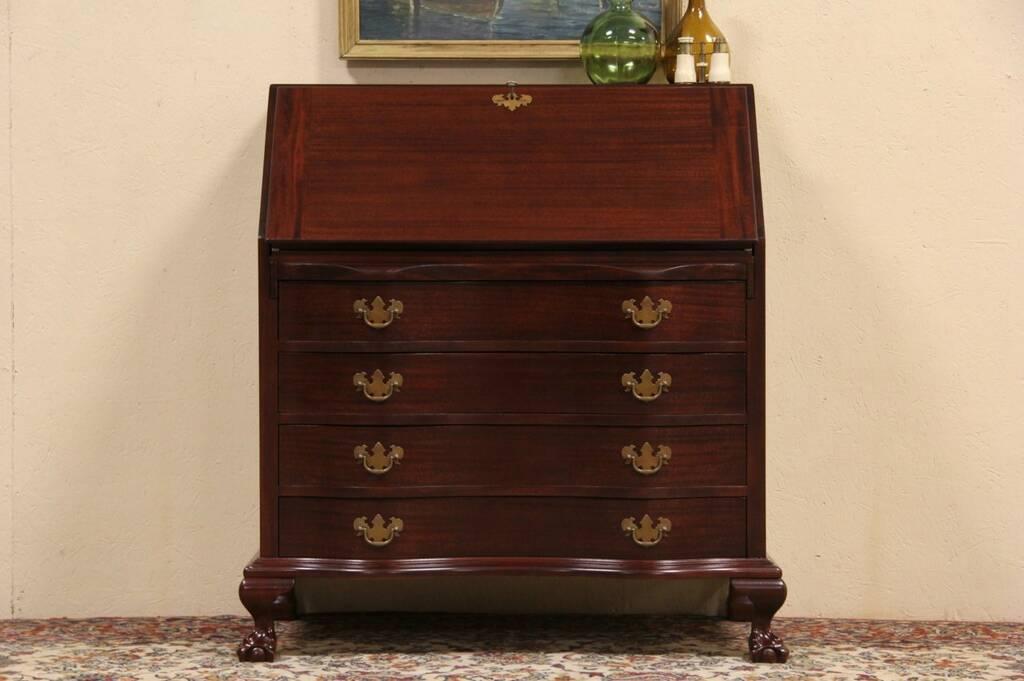 Sold Maddox Ny 1950 Vintage Secretary Desk Claw Amp Ball