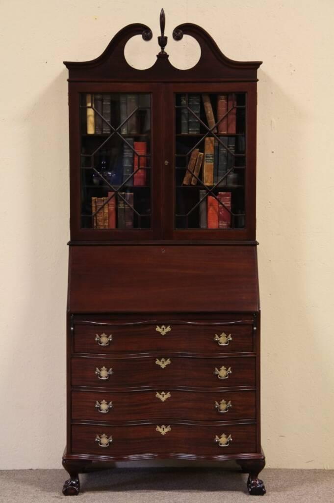 Sold Mahogany Secretary Desk Amp Bookcase Secret Drawers