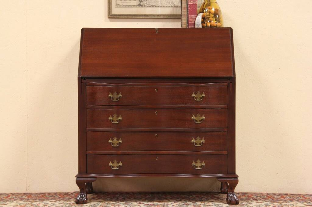 Sold Georgian Chippendale Mahogany 1940 Vintage