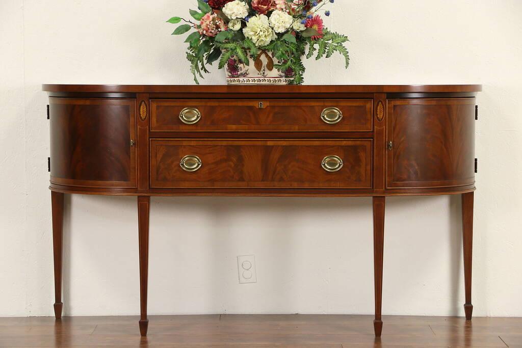 sold hekman signed sideboard server or buffet banded. Black Bedroom Furniture Sets. Home Design Ideas