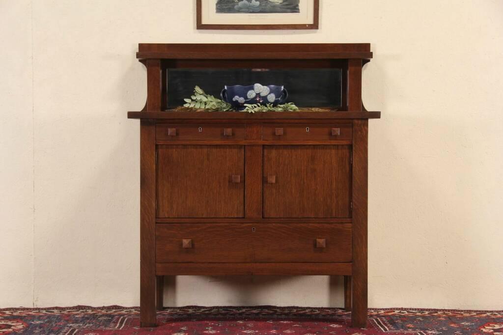 Sold Arts Amp Crafts Mission Oak 1905 Antique Server