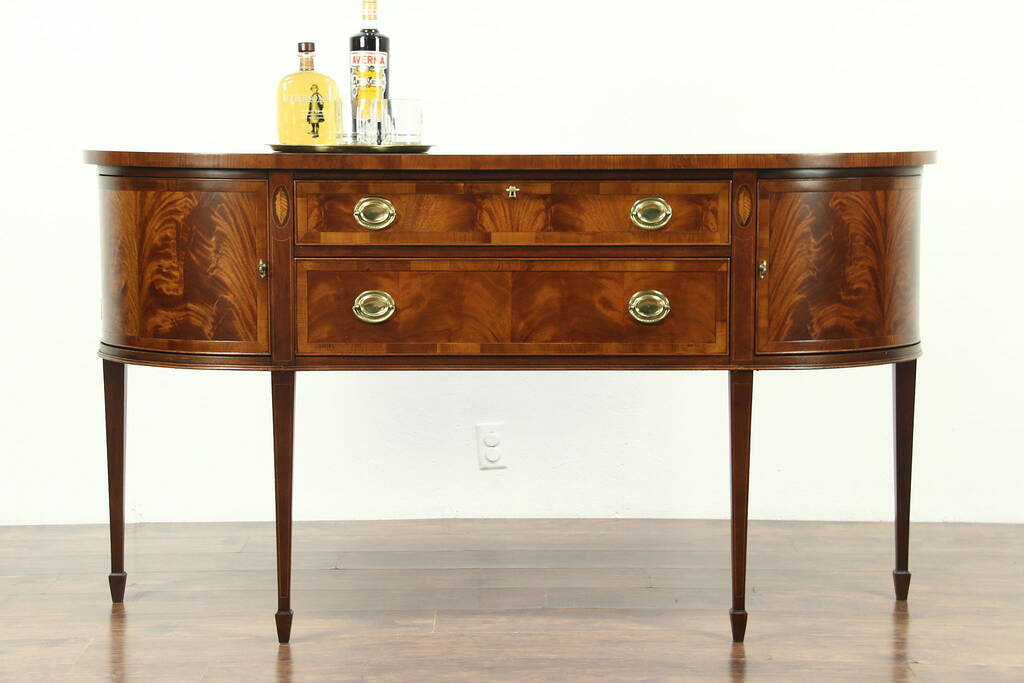Sold Hekman Signed Sideboard Server Or Buffet Banded