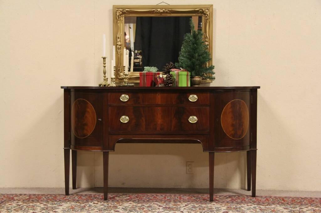Sold Charak Of Boston 1930 Hepplewhite Federal Sideboard Server Harp Gallery Antique Furniture