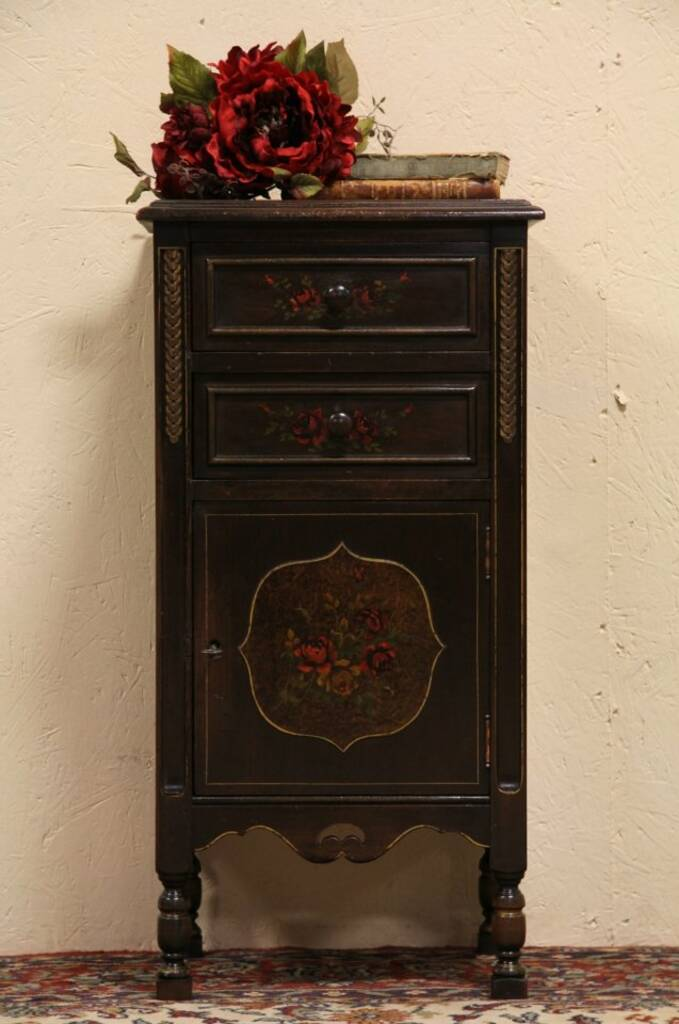 Sold Smoking Stand Humidor Or 1920 S Antique Night