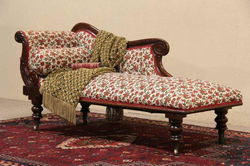 Empire 1825 Antique Fainting Couch Chaise Or Recamier Ebay