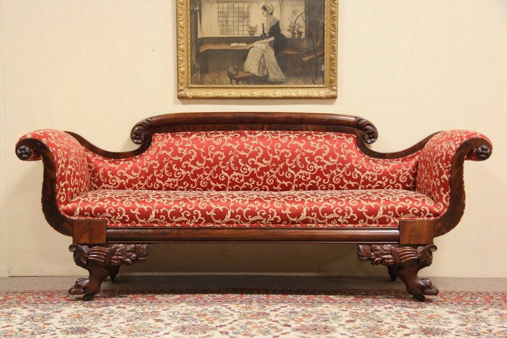 SOLD American Empire 1835 Antique Sofa Newly  : 10241024szsof4212emp from www.harpgallery.com size 1024 x 682 jpeg 105kB