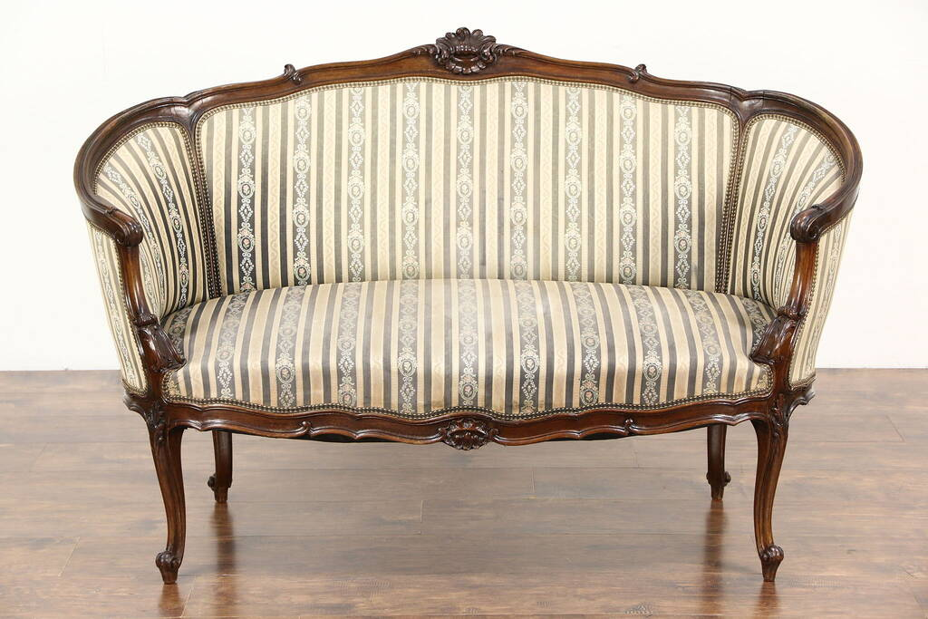 Sold French Louis Xiv Hand Carved Walnut 1920 Antique