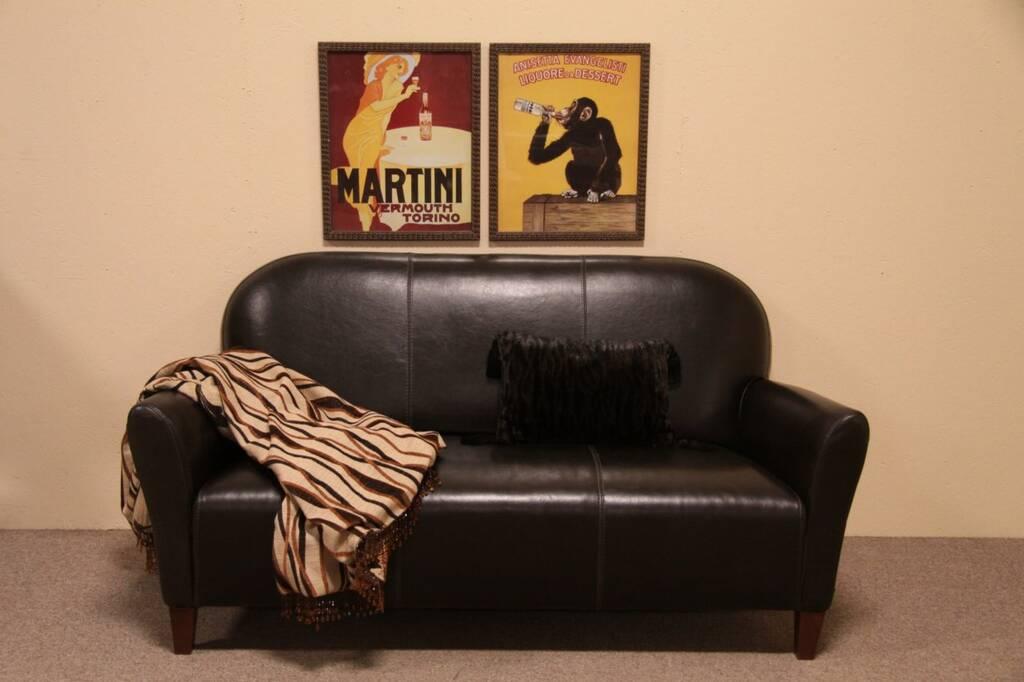 Sold Calia Italian Leather Sofa Harp Gallery Antique