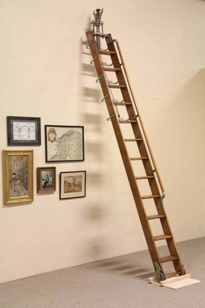 Home Library Ladder: Putnam Rolling Ladder, 11' Library Or Loft