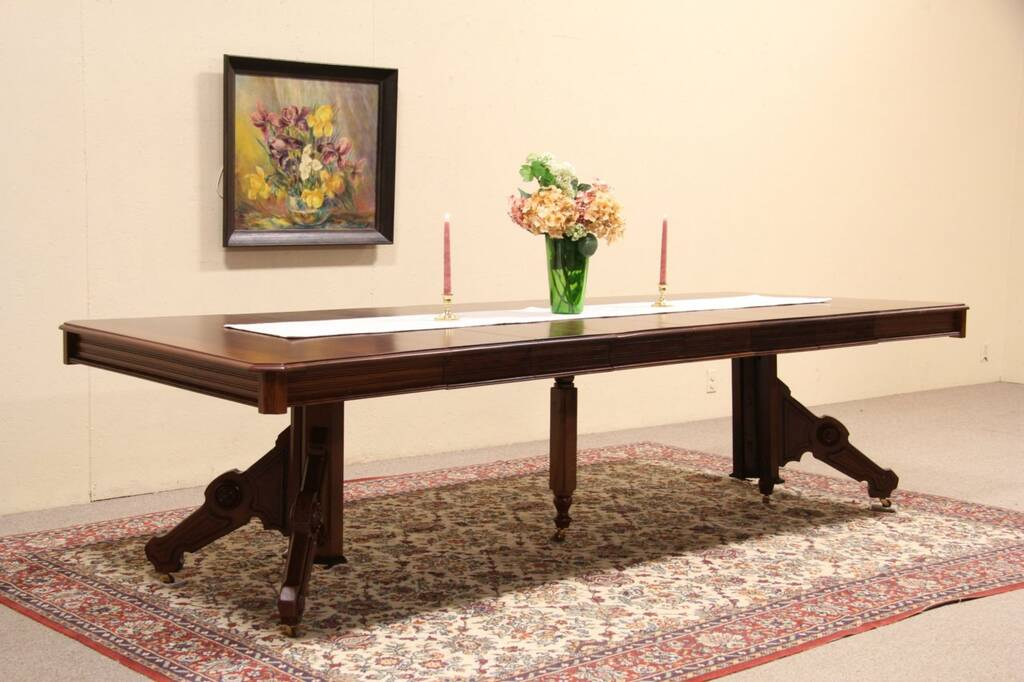 Sold Victorian Eastlake Cherry 1880 Antique Dining Table