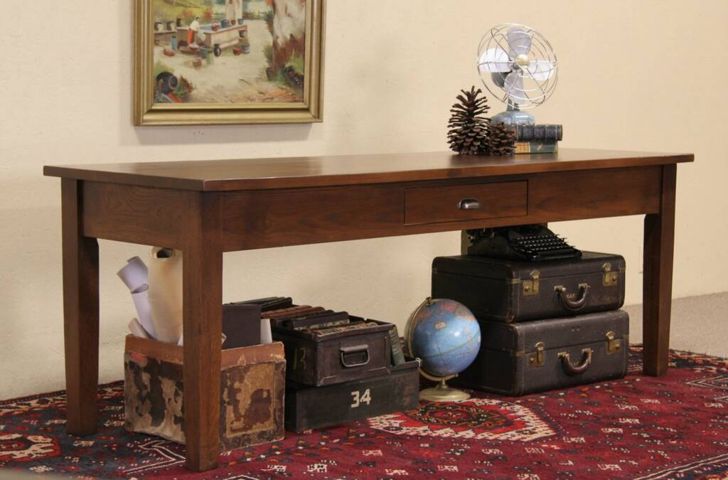 Post Office 1930's Sorting Table, Sofa Or Hall