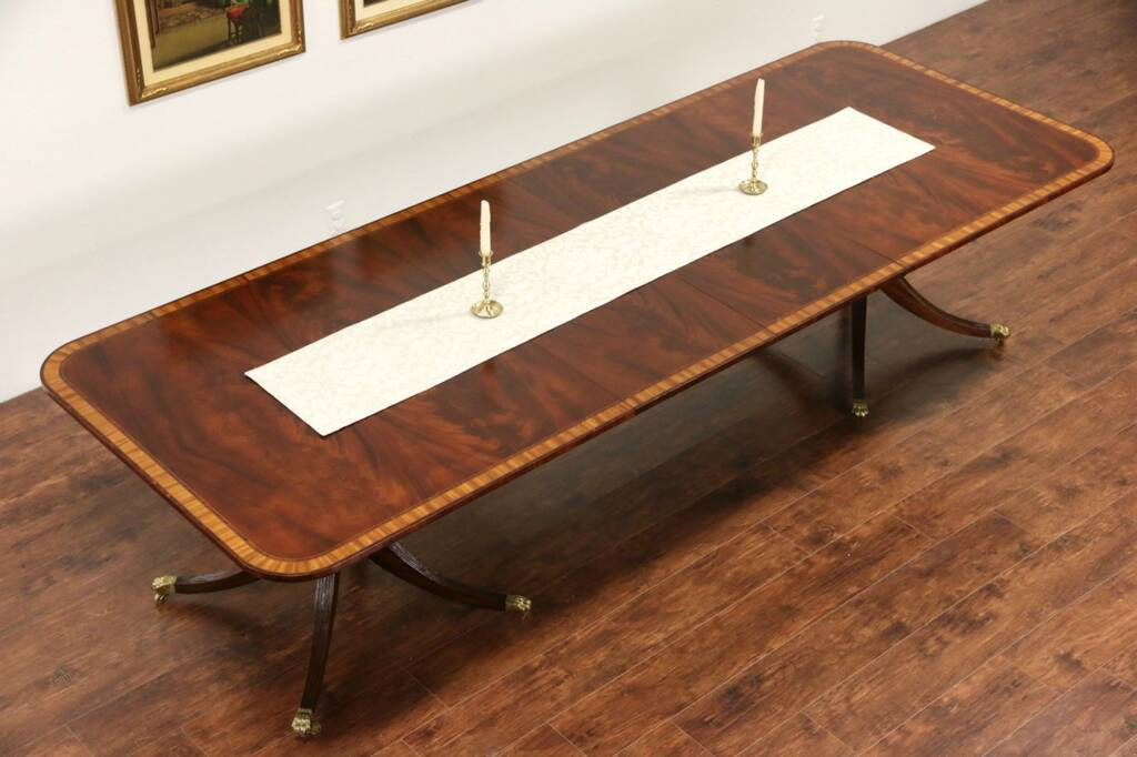 SOLD Mahogany Banded Double Pedestal Dining Table 2  : 10241024sztab11 14 15pace from www.harpgallery.com size 1024 x 682 jpeg 219kB