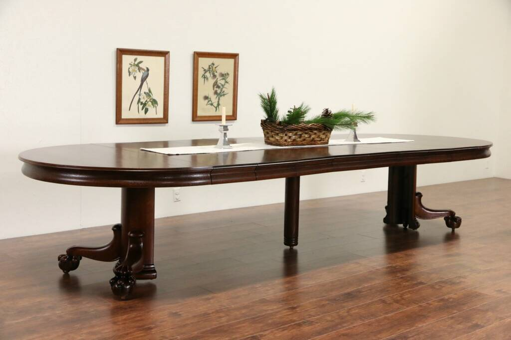 Sold Oak 1900 Antique 54 Quot Round Dining Table Ball