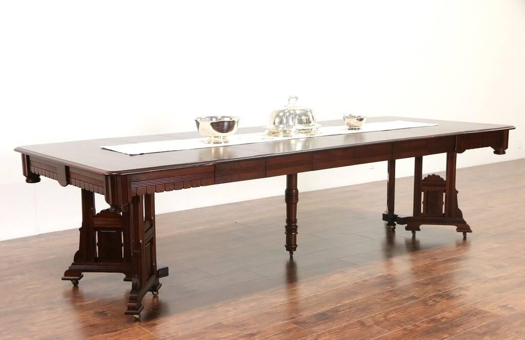 Sold Victorian Eastlake 1885 Walnut Dining Table 6