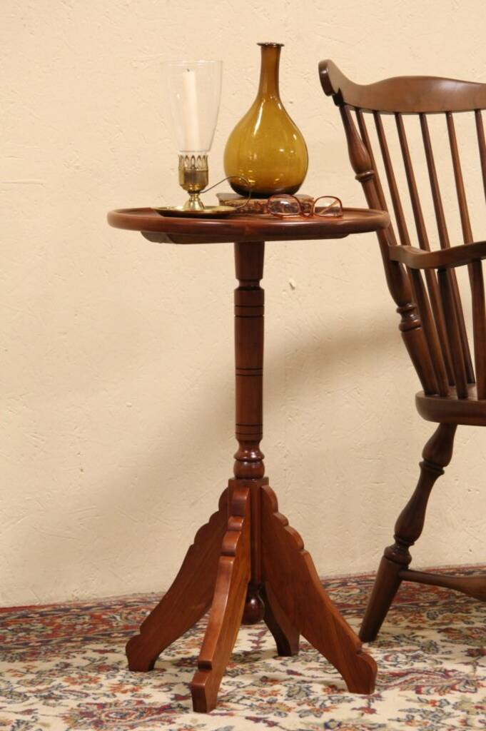 Sold Cherry 1900 Antique Pedestal Plant Stand Or