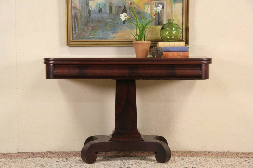 Foyer Console Game : Sold empire mahogany antique hall console sofa or