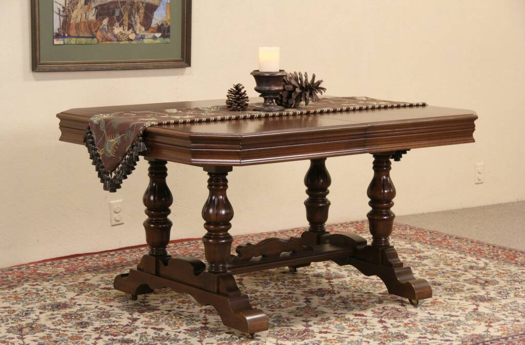 Sold Tudor Style 1925 Library Writing Or Dining Table