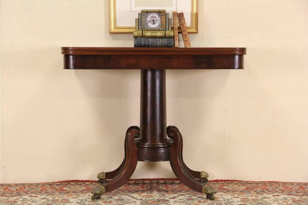 Sold English Regency 1840 S Antique Mahogany Flip Top