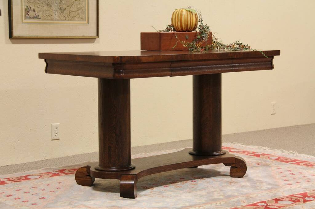 Sold Mersman Ohio Oak Library Table Harp Gallery Antique Furniture