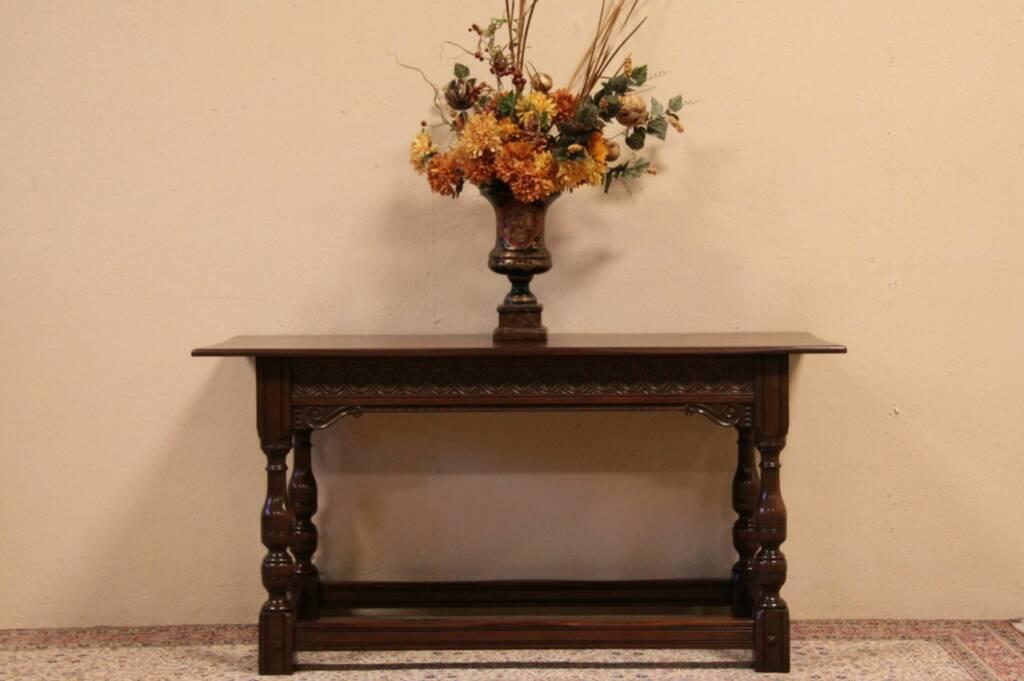 SOLD - Kittinger Renaissance Carved 1925 Sofa,or Hall Table - Harp ...