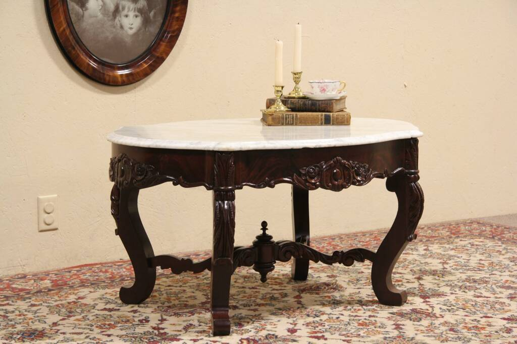 Victorian Marble Coffee Table