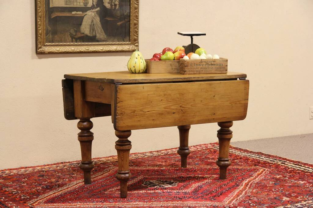 Sold English Country Pine 1860 Antique Dropleaf Console Breakfast Or Dining Table Harp Gallery Antique Furniture