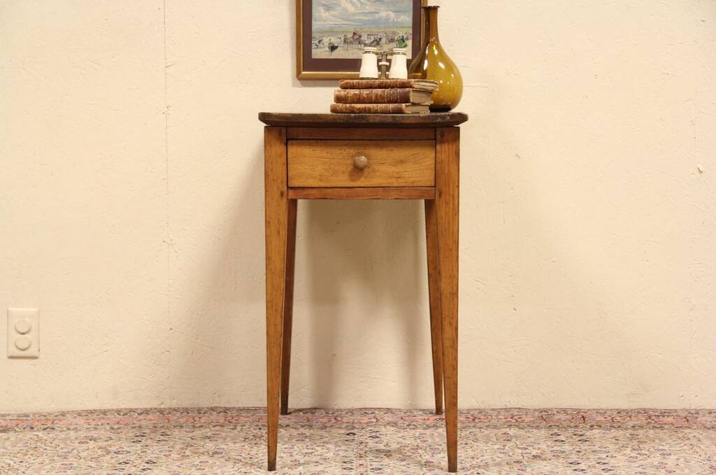 Sold Country Hepplewhite 1825 Antique Butternut Side