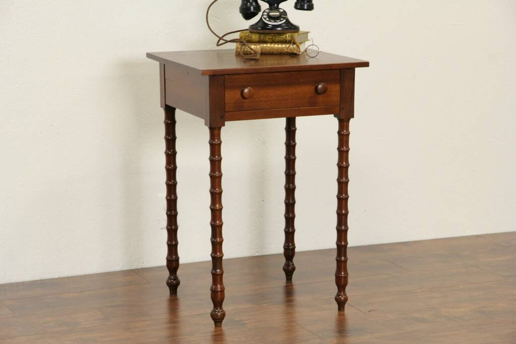 Sold Walnut End Table Or Nightstand 1850 S Antique