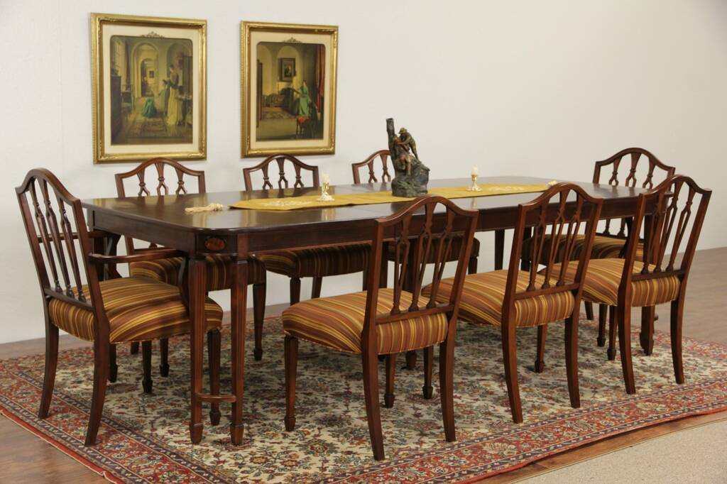 Sold Sheraton 1940 S Vintage Dining Set 8 Chairs Table
