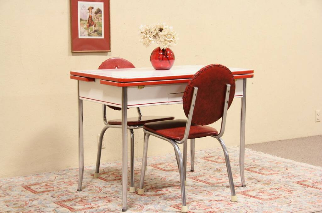 Retro Dinette Sets Chrome Kitchen Dinette Sets Retro Html Autos Weblog