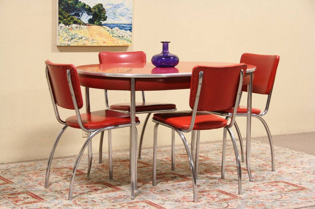 Howellite Retro Red Kitchen Or Dinette Set Table amp 4  : 10241024sztab7134f from ebay.com size 1024 x 682 jpeg 87kB