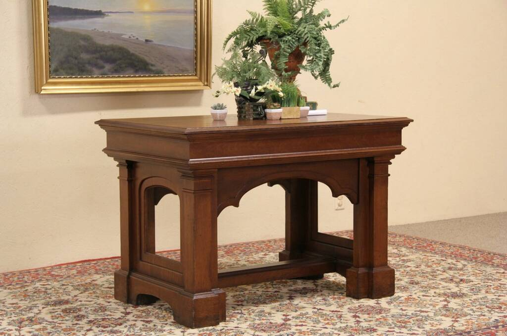 Antique Foyer Furniture : Sold oak antique hall reception or foyer table