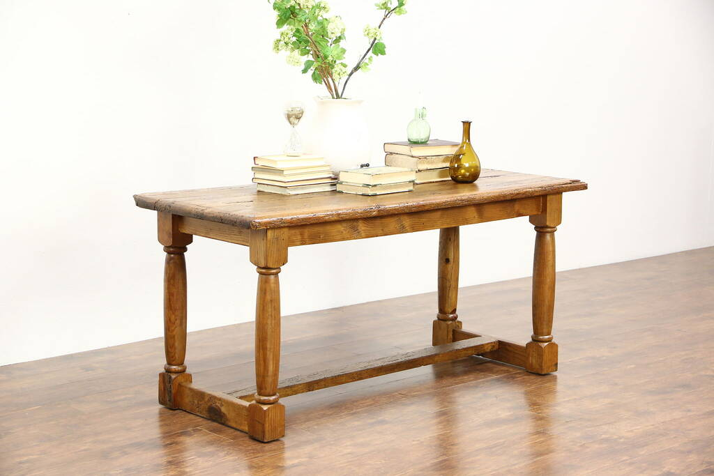 rustic kitchen island table rustic country pine trestle dining console or 5003
