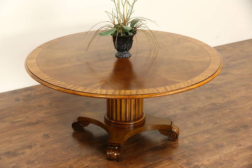 Sold Henredon Round 5 4 Quot Vintage Banded Table Sunburst