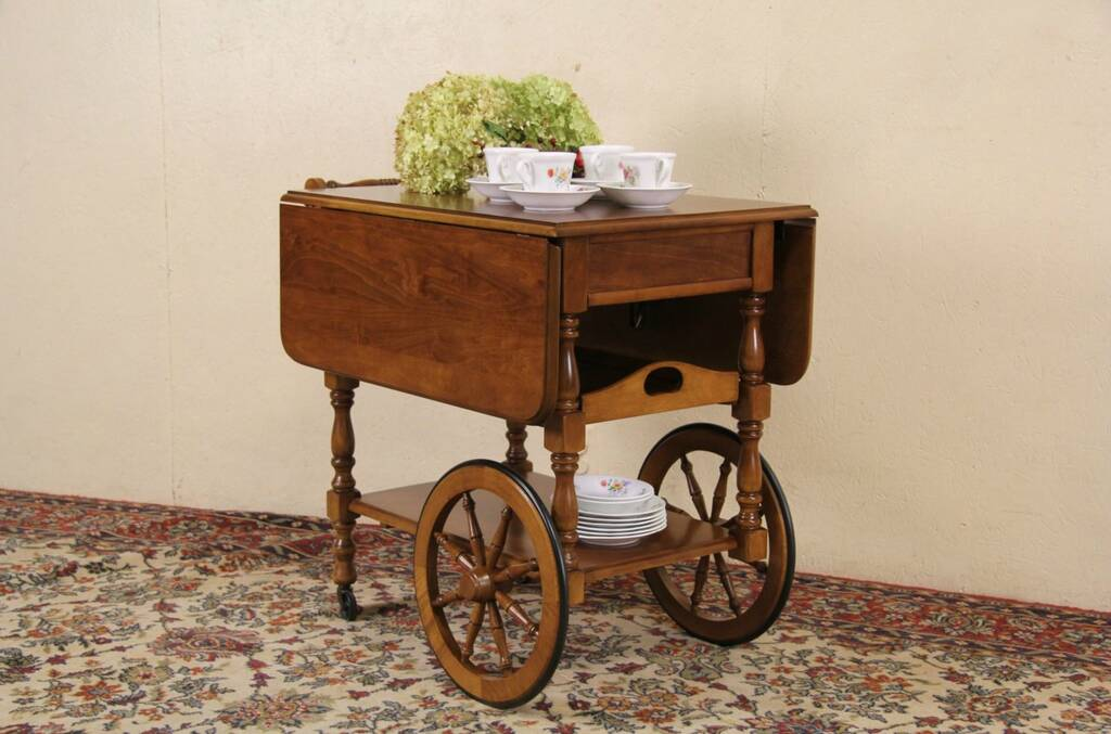 Sold Maple Vintage Tea Cart Beverage Or Dessert Trolley