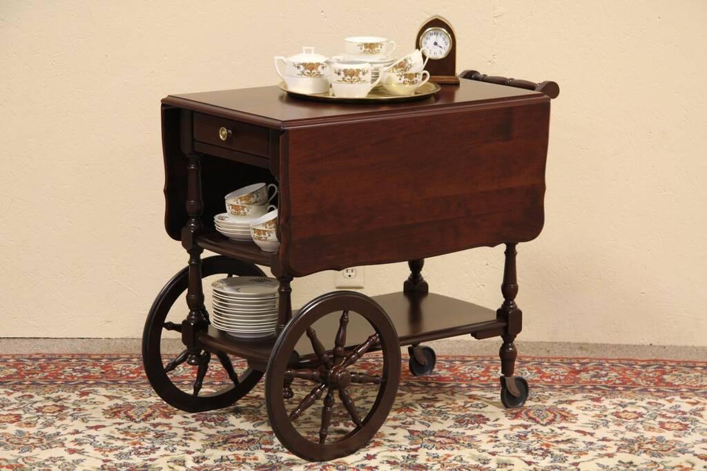 Sold Cherry Tea Dessert Or Beverage Cart Harp Gallery