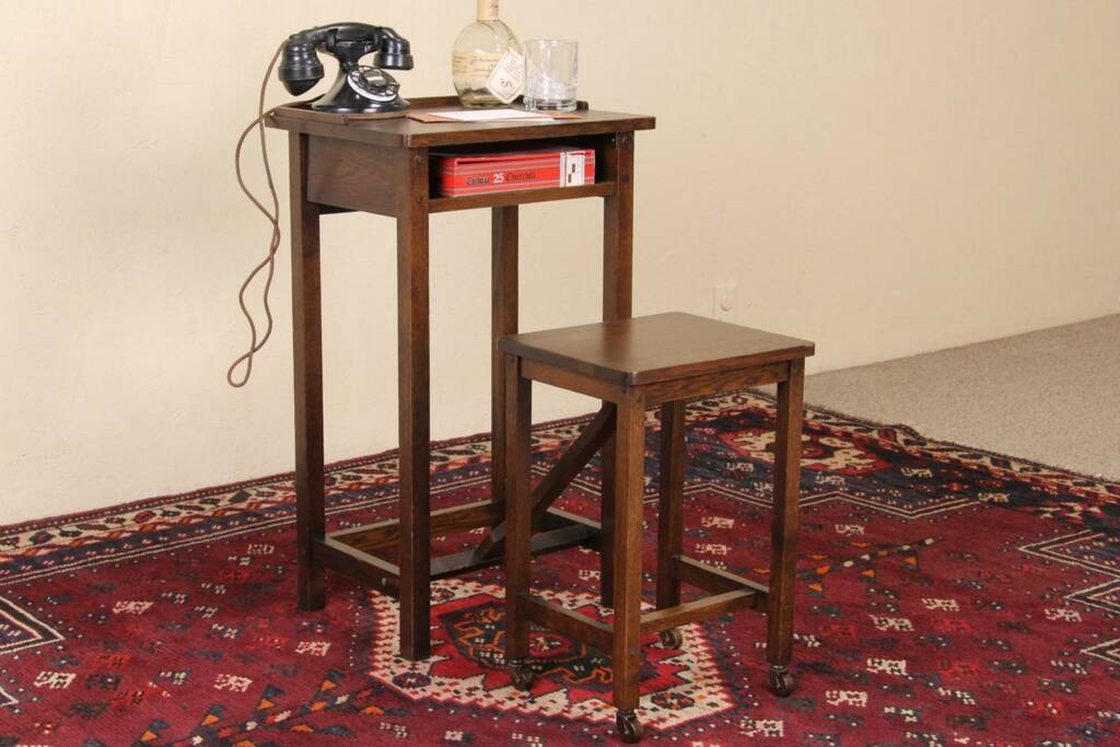 Sold Arts Amp Crafts Mission Oak Antique 1900 S Telephone