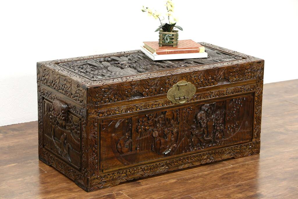 1024  1024    sz  tr11 8 16as Wooden Chest Trunk Coffee Table